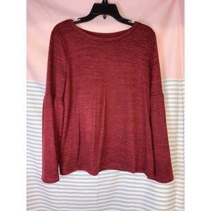 Bell Sleeve Top - Red